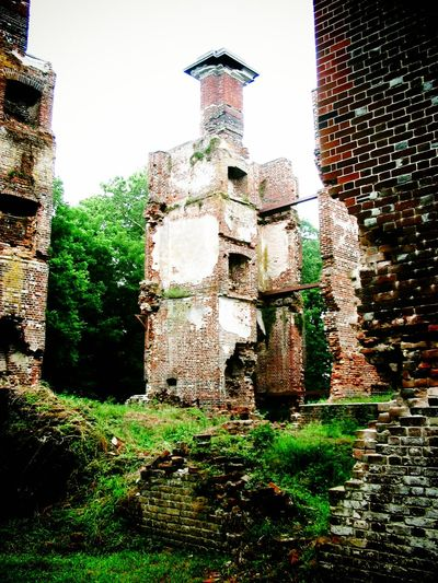 The Ruins of Rosewell Architecture Brick Wall Building Building Exterior Built Structure Day Exterior Grass Green Color Growing Growth Historical Building Nature No People Outdoors Plant Rosewell Mansion Ruin Sky