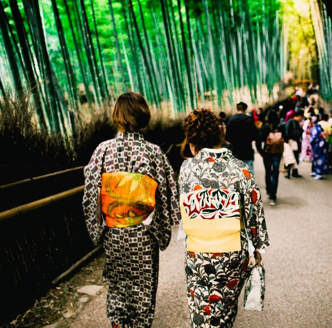 The Street Photographer - 2017 EyeEm Awards Walking People Togetherness Outdoors Bokehphotography Bokeh Photography Picoftheday Photooftheday EyeEmNewHere Potraitphoto The Great Outdoors - 2017 EyeEm Awards Japantrip Explorejapan Females Kimono Dress Japangirl Nikon D750 Art Is Everywhere Traditional Clothing Bamboo - Plant Nature