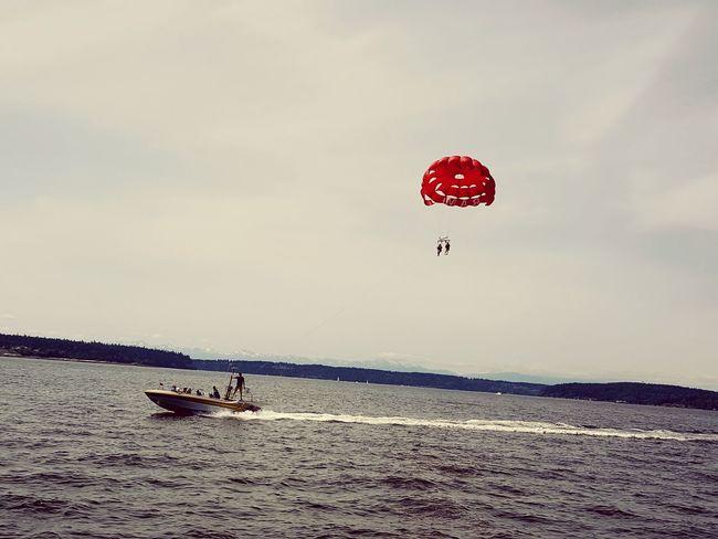 Boatlife Good Times Tacoma_WA Onaboat Pacific Northwest  Boat Ride Puget Sound, Washington Parasailing Parachute