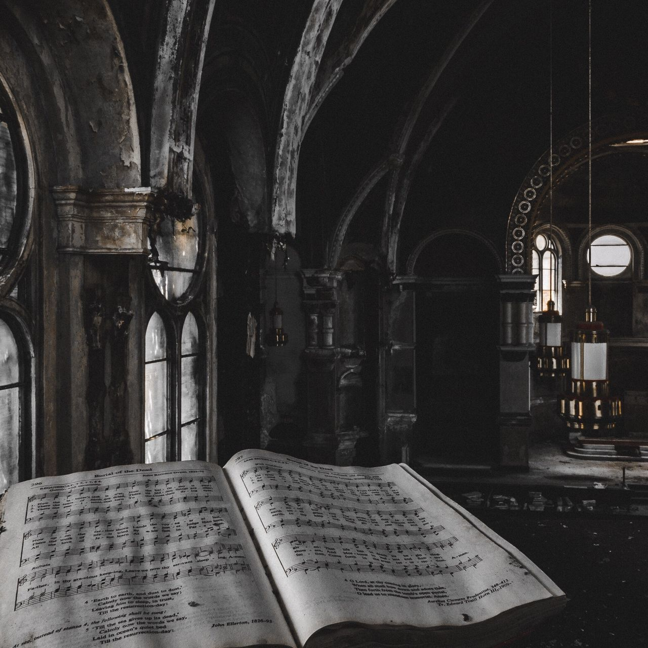 Music Indoors  Religion Arch Spirituality Musical Instrument Architecture Place Of Worship No People Musical Note Day Abandoned Places Abandoned Urbanexploration Urbex Urbexphotography