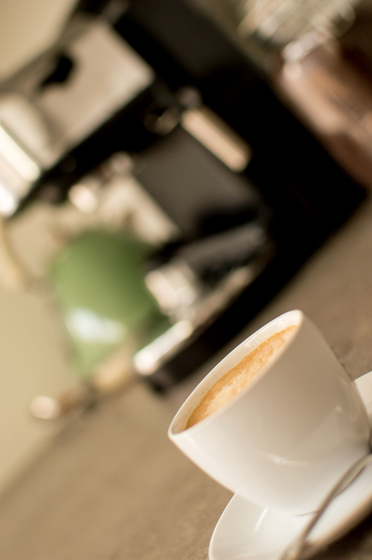 Close-up Coffee Differential Focus Espresso Espresso Machine Focus On Foreground Hot Drink No People Selective Focus Tranquility