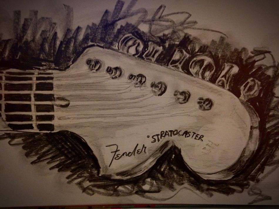 Finally finished ??? Guitar Drawing Finished Finishedproduct Pencil Drawing Pencil Pleased