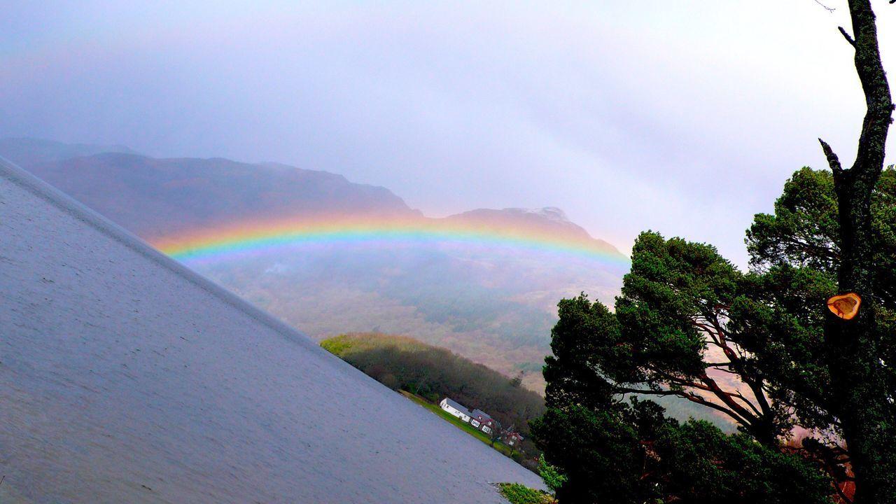 Rainbow Mountain Lake LochLomond Scotland