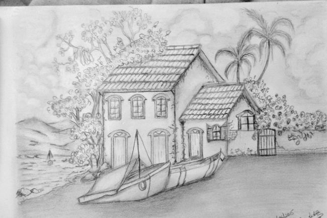 My Drawing Thelakehouse Blackandwhite