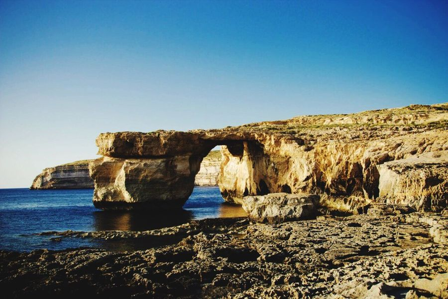 Malta Sea Blue Grotto Holiday Beauty In Nature