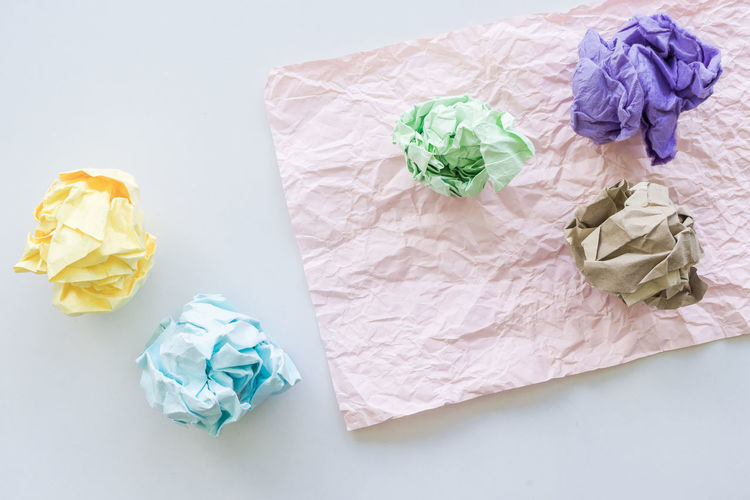 Close-up Crumpled Crumpled Paper Day Garbage High Angle View Indoors  No People Paper Studio Shot Wastepaper Basket