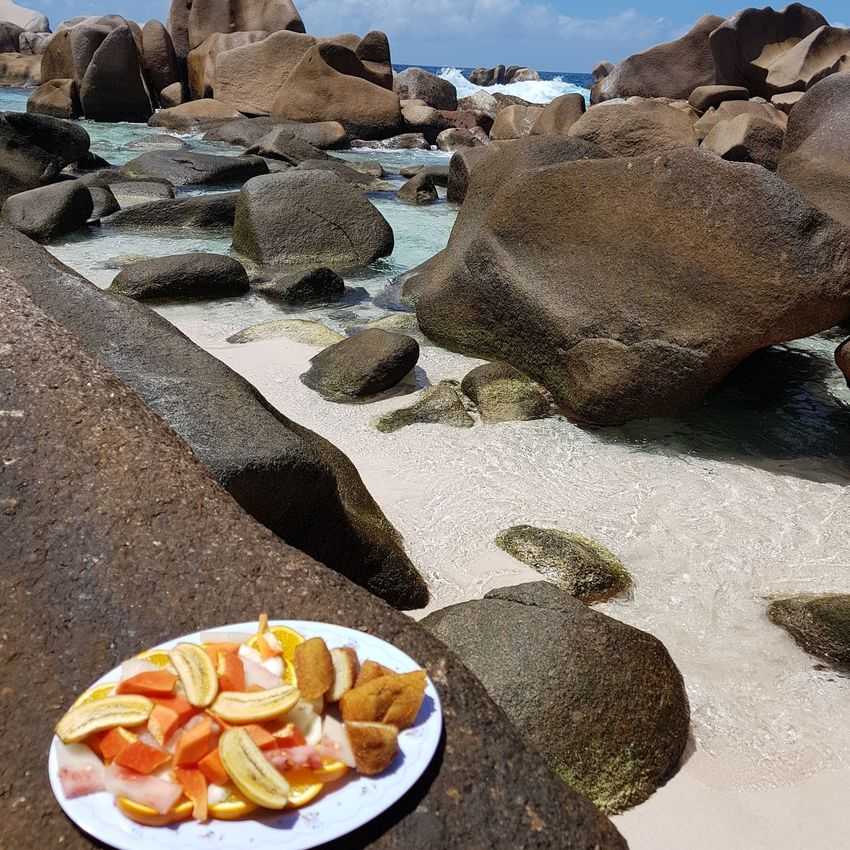 Fresh Food Fresh Fruits No Filter Lunch Time! Beach Close-up Creole Seychelles Alone Time Bluewater