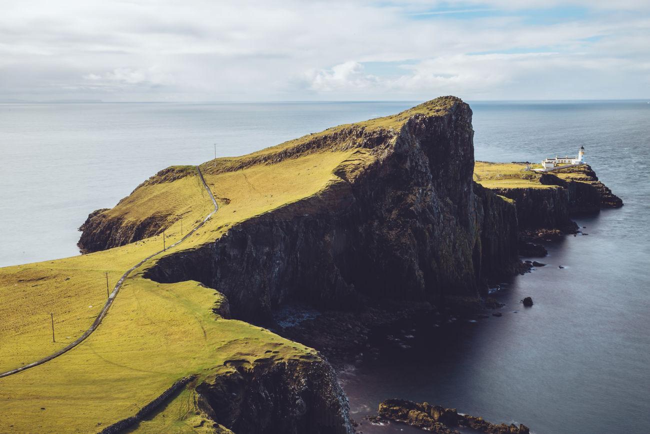 Neist Point, Isle of Skye Cliff Horizon Over Water Isle Of Skye Landscape Lighthouse Nature Neist Point Outdoors Scenics Scotland Sea Sky Tranquility Water