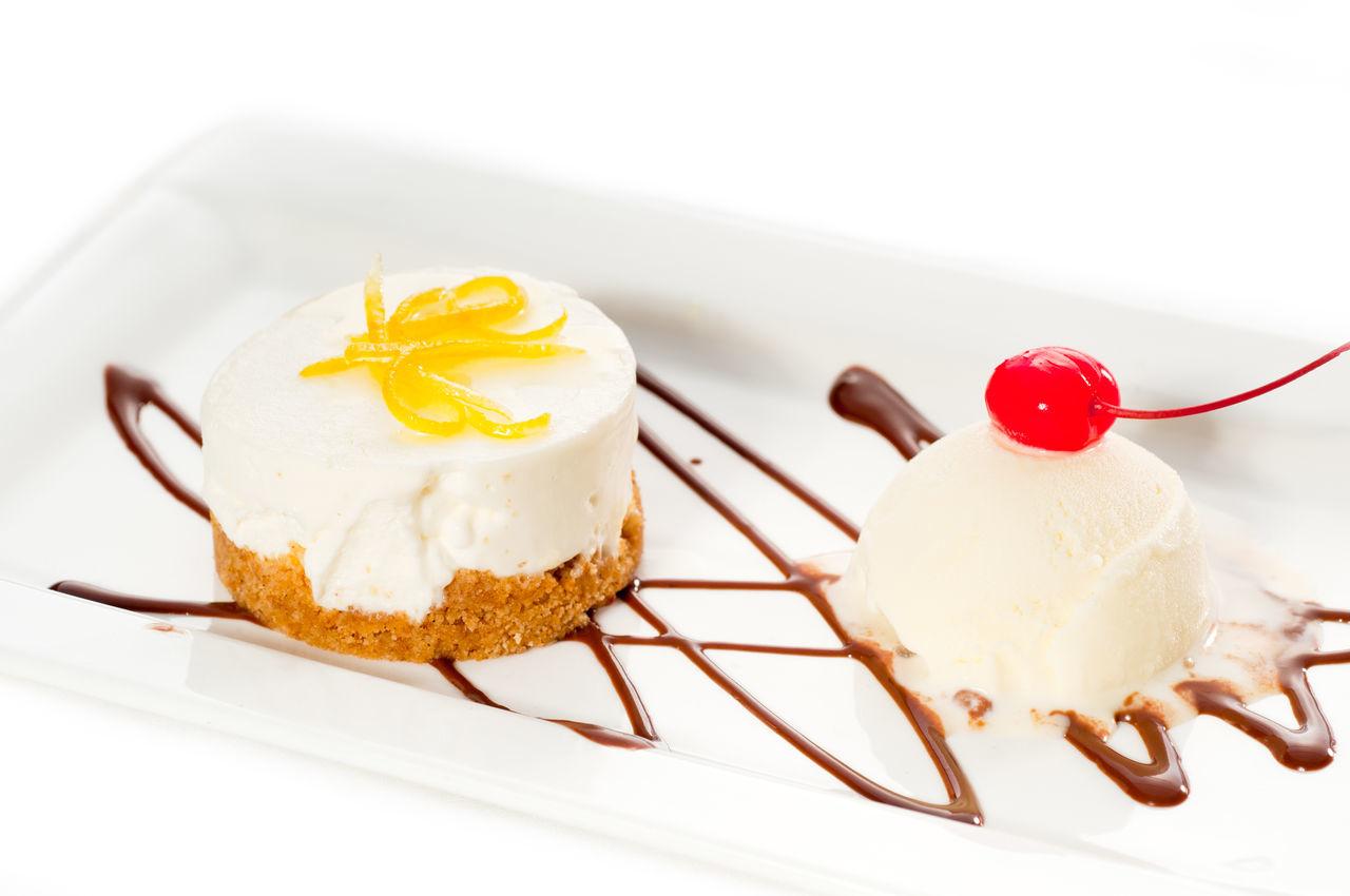 Beautiful stock photos of eiscreme, Baked, Cake, Cherry, Chocolate Sauce