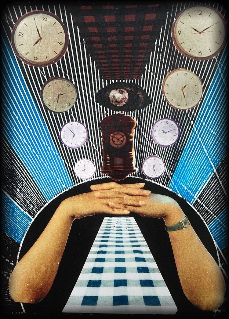 """Collective of My Memories: """"Timeless"""" - re-new. ::: When the time no longer feel existing different with the time previously... it was a projection of everday life... Time is feels freezing and stalled... Finding the door out out but probably i'have been on the outside... Looking for the entrance but probably i was already inside... ::: - collage & montage from 135mm negative+ortho: 1999. Montage Photography NEM Mind NEM Submissions Collage Photography"""