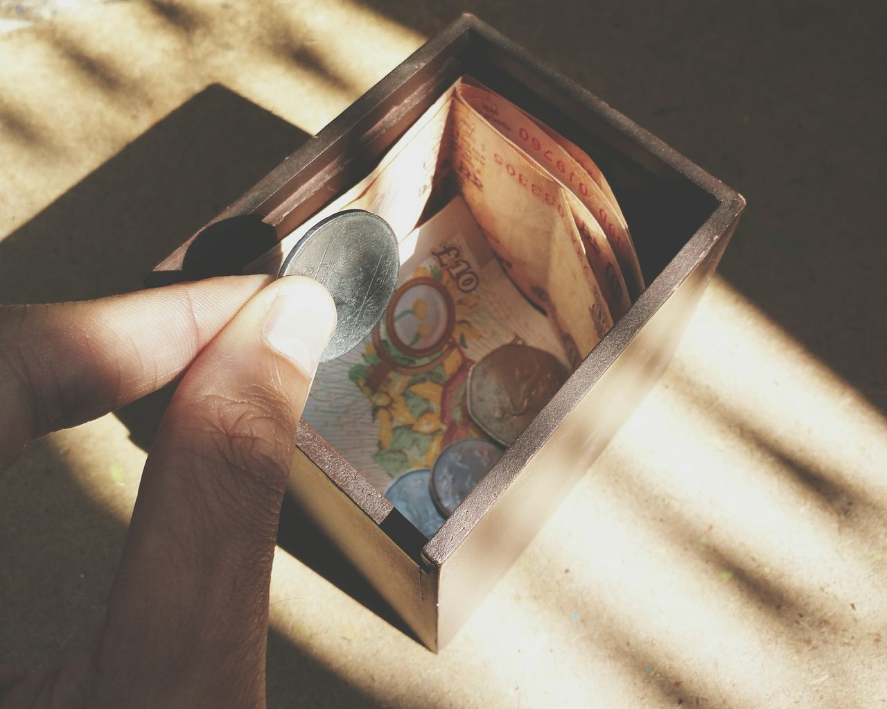Beautiful stock photos of money, Box - Container, Coin, Cropped, Currency