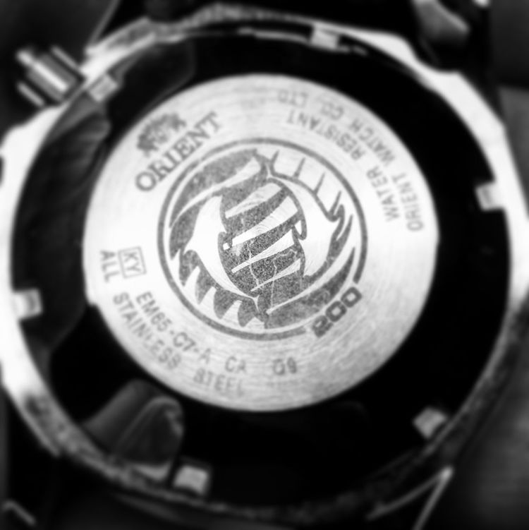 Black And White Submariner Watches Homage Orient Ray Macro