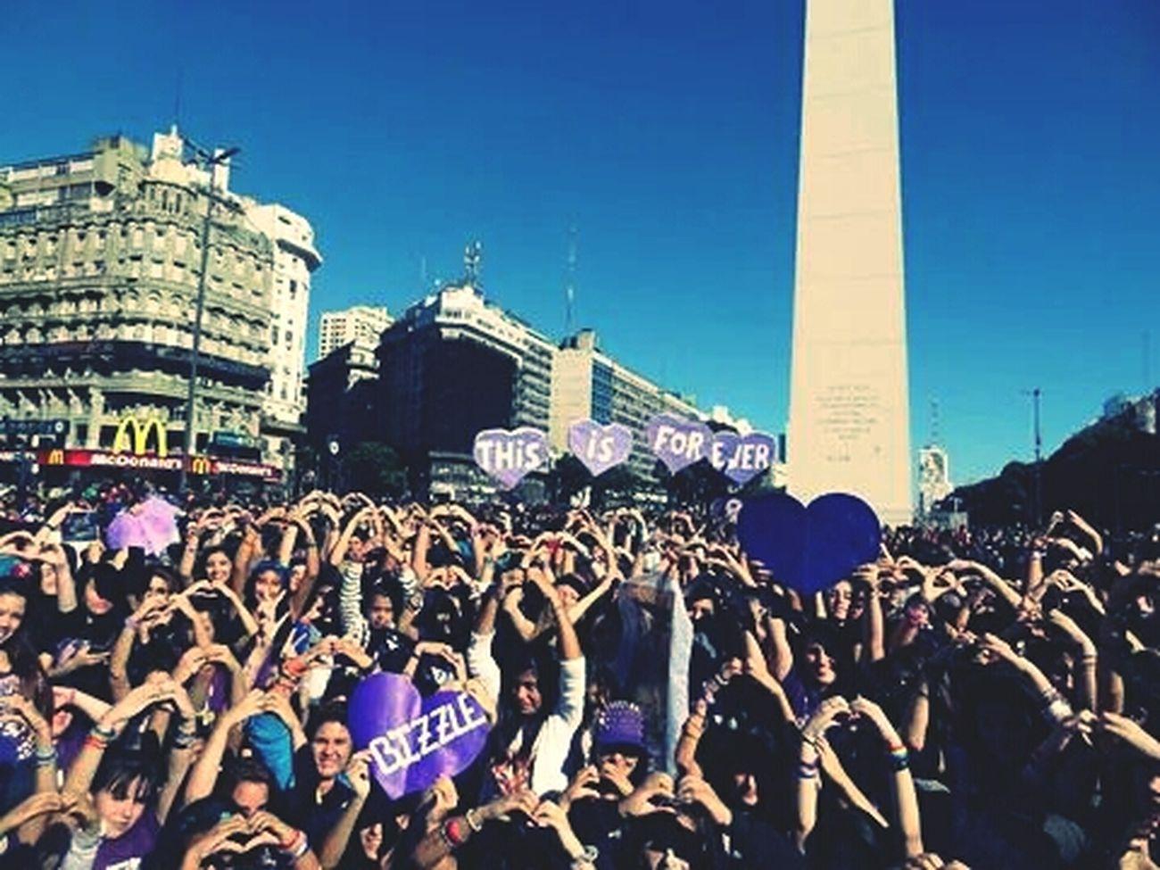 Beliebers JBAO Obelisco Buenos Aires