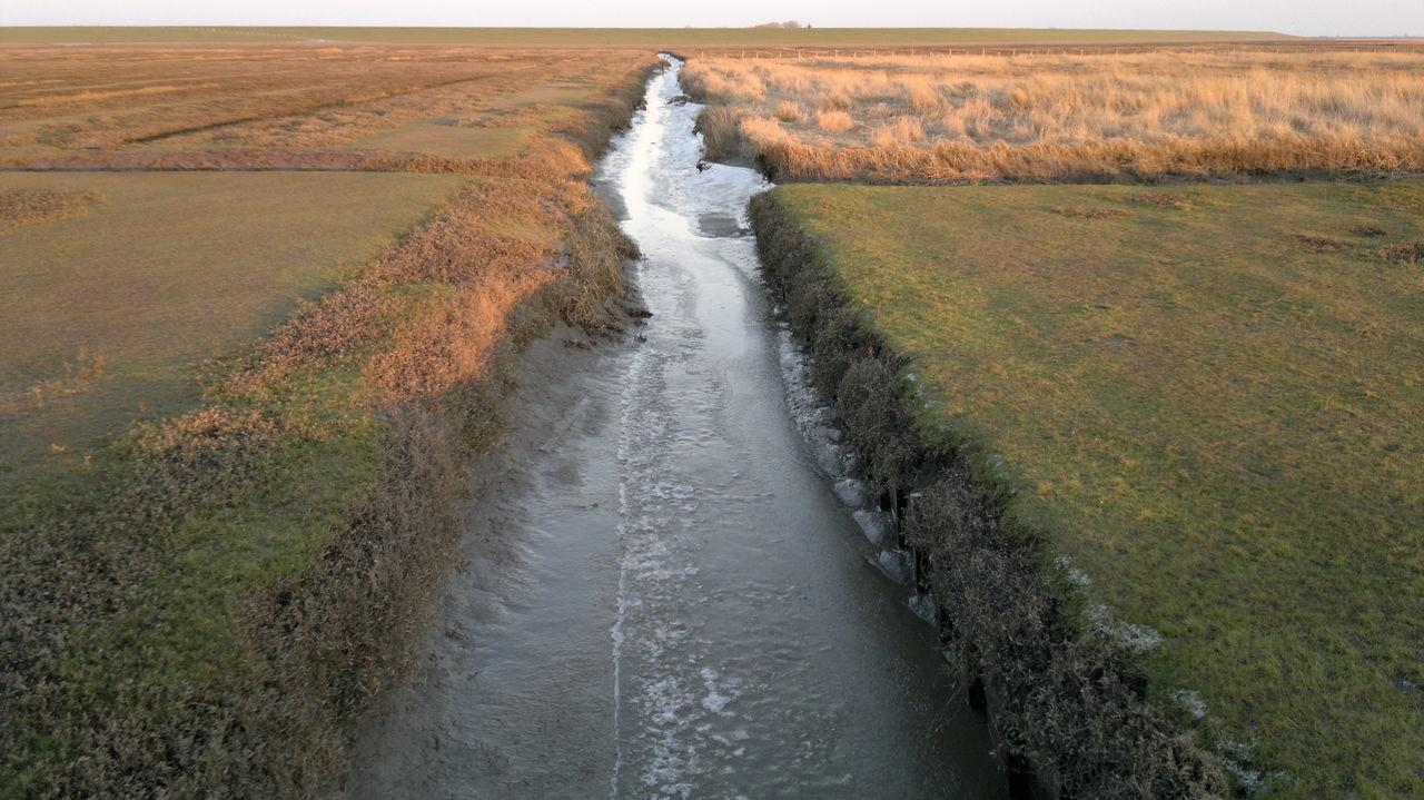 Frozen River Eiderstedt