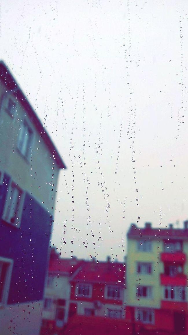 4.07.16 Rainy Days Ilovenature Thisissotumblr Edirne Damlalar Yağmur Mahalle HeyNeighbor Balkony Sky Rain