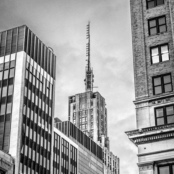 Rand Building Buffalo Buffalony City Monochrome Blackandwhite