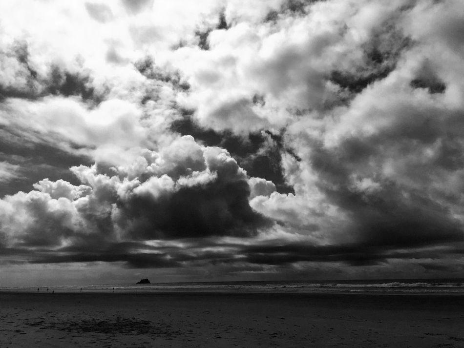 Hug Point On The Beach Black & White