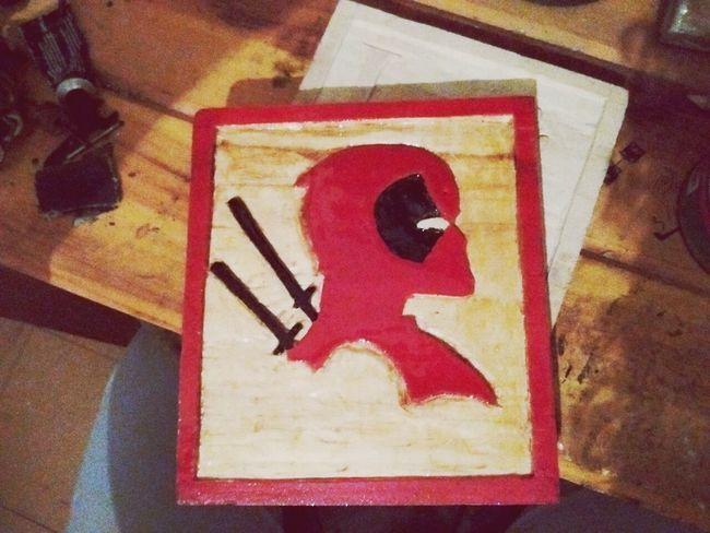 Un anti heroe en madera Communication Human Representation Red No People Indoors  Day Close-up