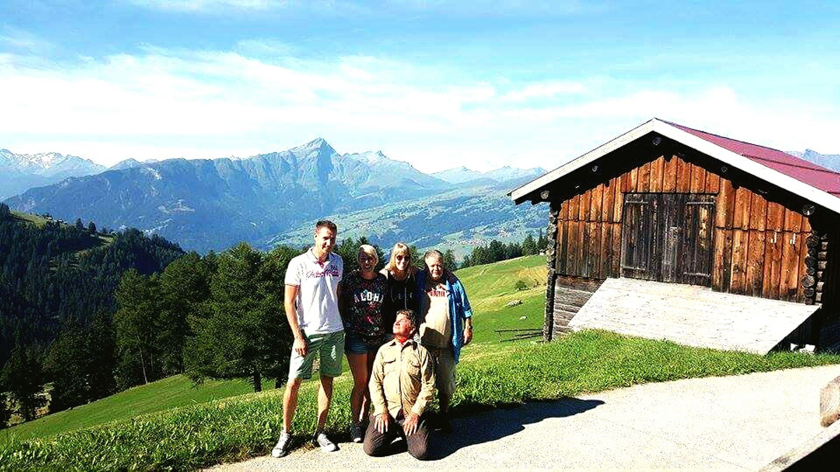 Switzerland Graubünden Maiensäss Mountain View Friends And Family Beautiful Nature Happy People Nature Summer
