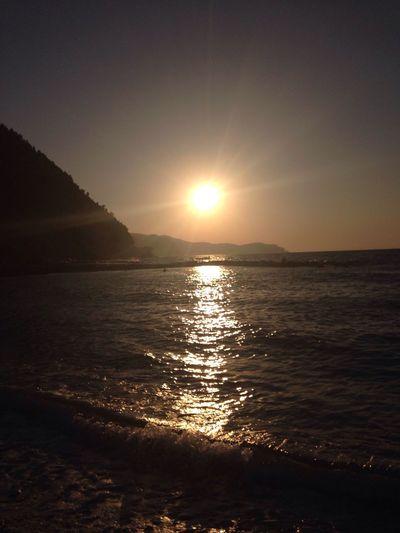 Sunset in Ayancık beach ☀️🌅