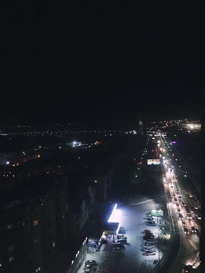 Уже слишком пора Illuminated Night City Cityscape Architecture Street Road