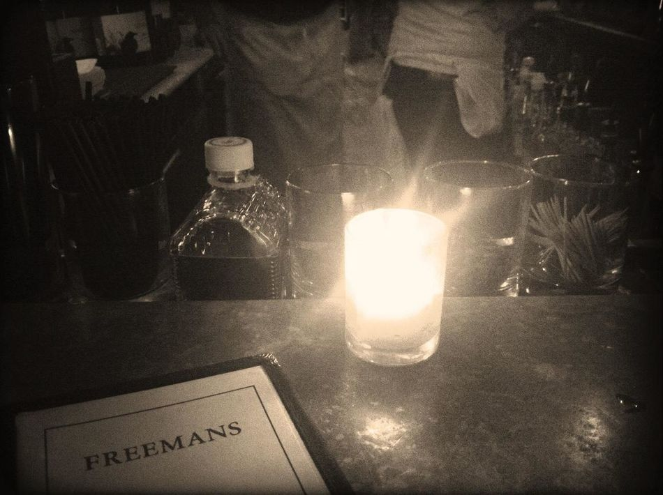 Having a Drink at Freeman's Having A Drink