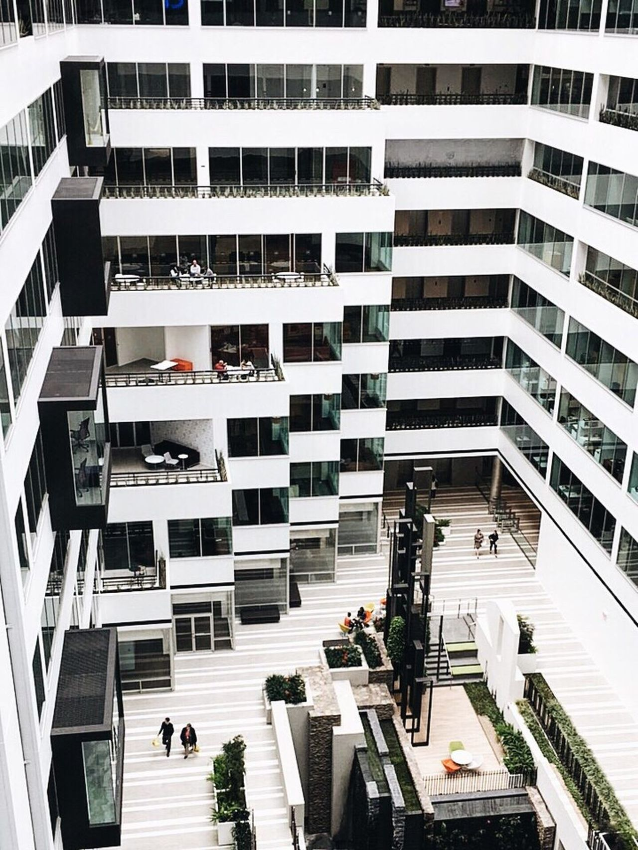 Architecture High Angle View Built Structure Modern Interior Design Lines Lines And Shapes