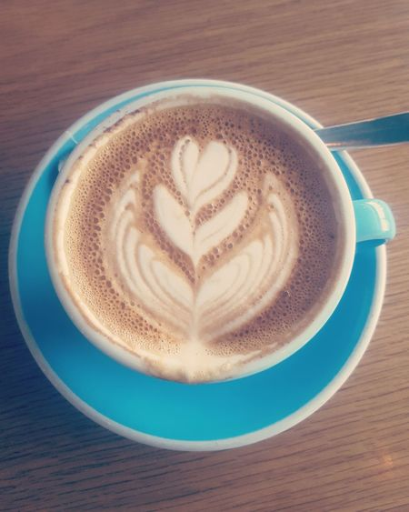 Cappuccino Latte Art Dubai Love Good Morning Heart Cafe The Art Of Coffee Rosetta Fern