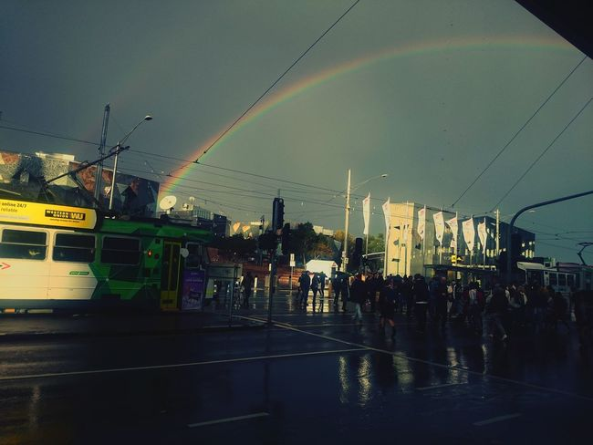 Flinders St #Melbourne Rainbow Vivid