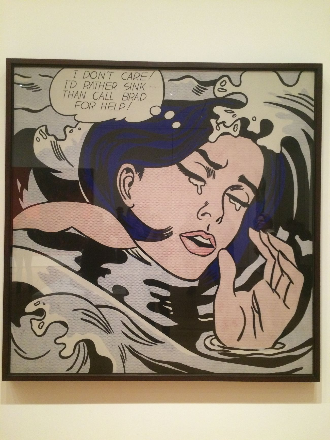 Drowning Girl Pop Art Cool Artsy Painting Moma NYC Girl