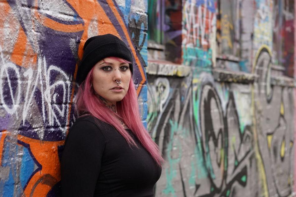 Beautiful stock photos of graffiti, 20-24 Years, Art, Attitude, Beautiful Woman