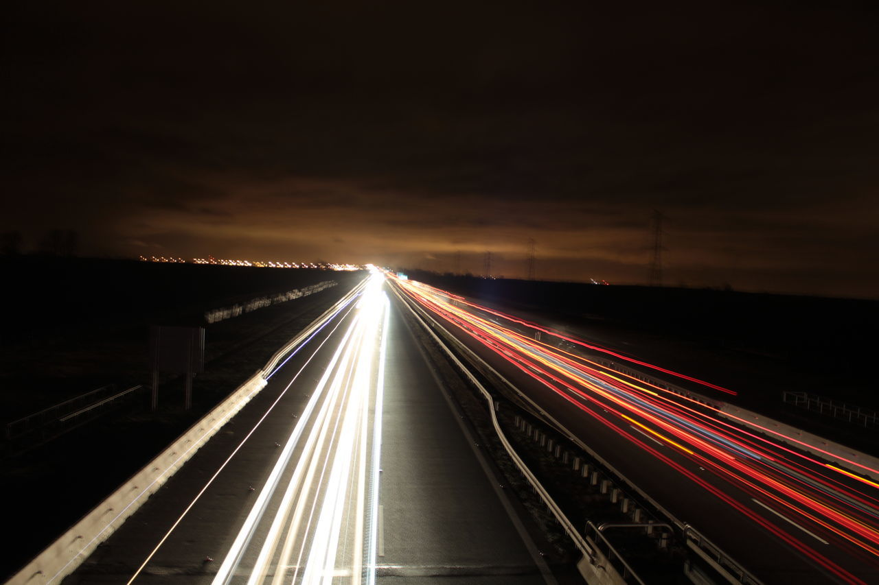 Light Trail Speed Night Illuminated Transportation Traffic Motion Highway No People Outdoors Sky Road From My Point Of View Fresh On Eyeem  LearningEveryday The Purist (no Edit, No Filter) The Week On EyeEem Every Picture Tells A Story EVERYTHING THAT HAS A BEGINNING HAS AN END Hello World Good Night Getting Inspired Canonphotography EyeEm Best Shots Taking Photos ❤