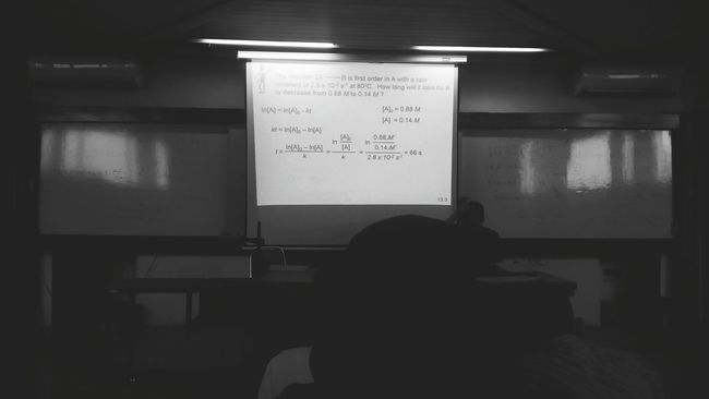 In The School Slide Projector