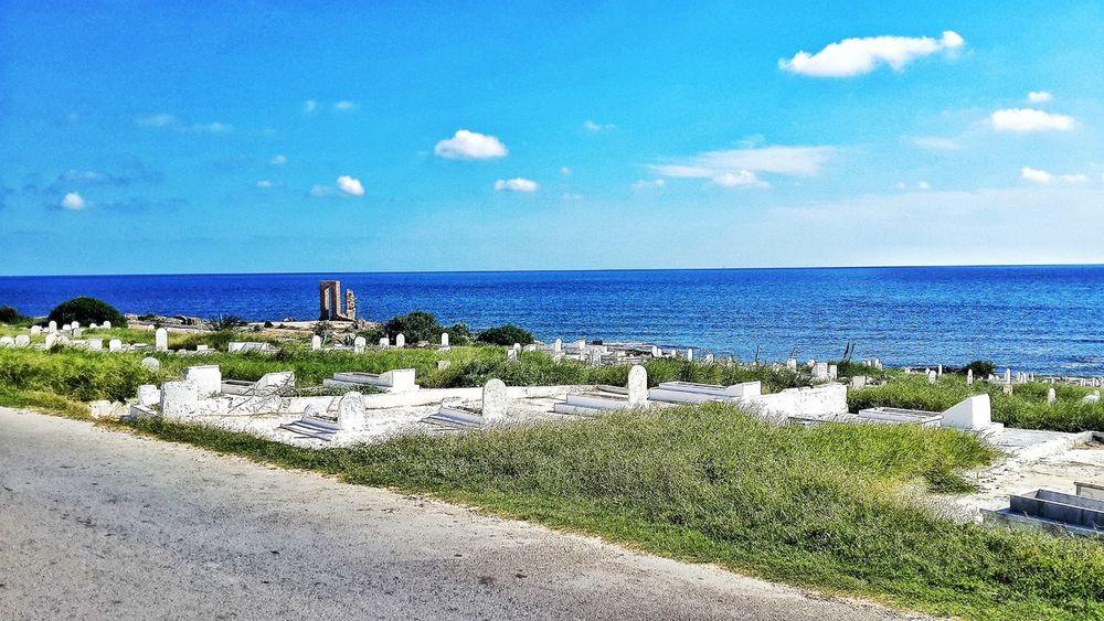 That view 😍 Mahdia Tunisia Beach Nature Calm Beauty In Nature Sky Sea Blue
