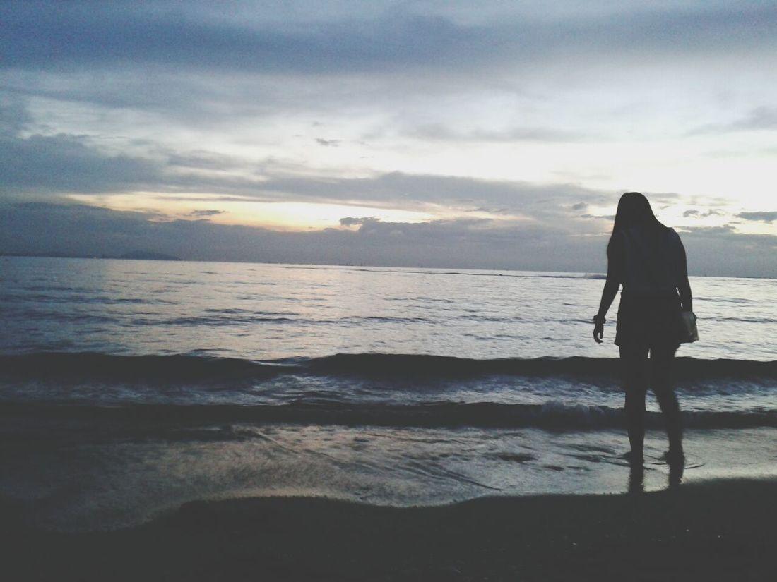เ ห ง า .Bangsean Beach Relaxing Thailand