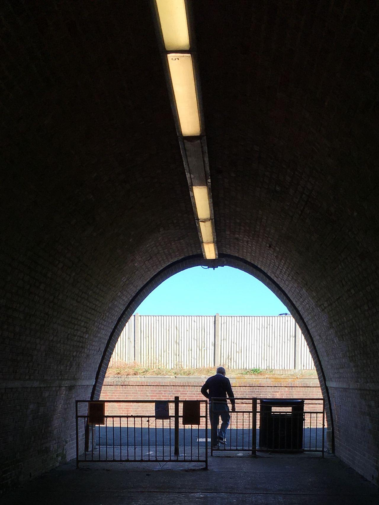 Man Leaves Tunnel Architecture Bridge - Man Made Structure Built Structure One Man Only Tunnel