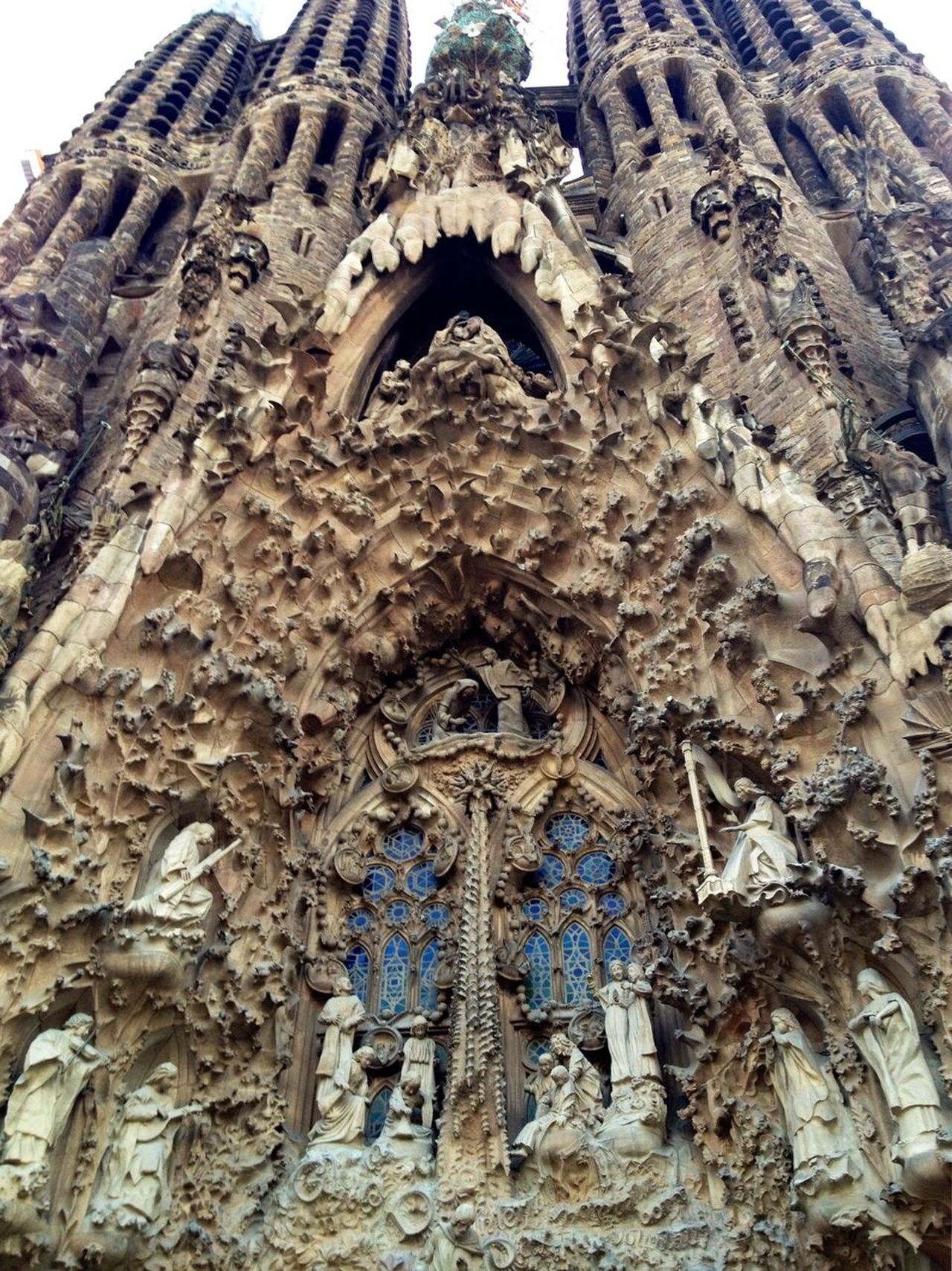 Sagrada Familia Gaudi Barcelona Religion Low Angle View Spirituality Place Of Worship No People Sculpture Statue Architecture History EyeEm Gallery EyeEm Built Structure Close-up Outdoors The Architect - 2017 EyeEm Awards EyeEmNewHere
