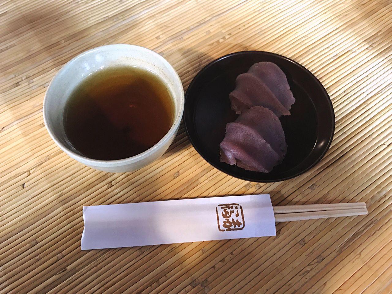 Wagashi Japanese Food Japanese Sweets Tea Roasted Tea Japanese Tea Akafuku Ise Mie First Eyeem Photo