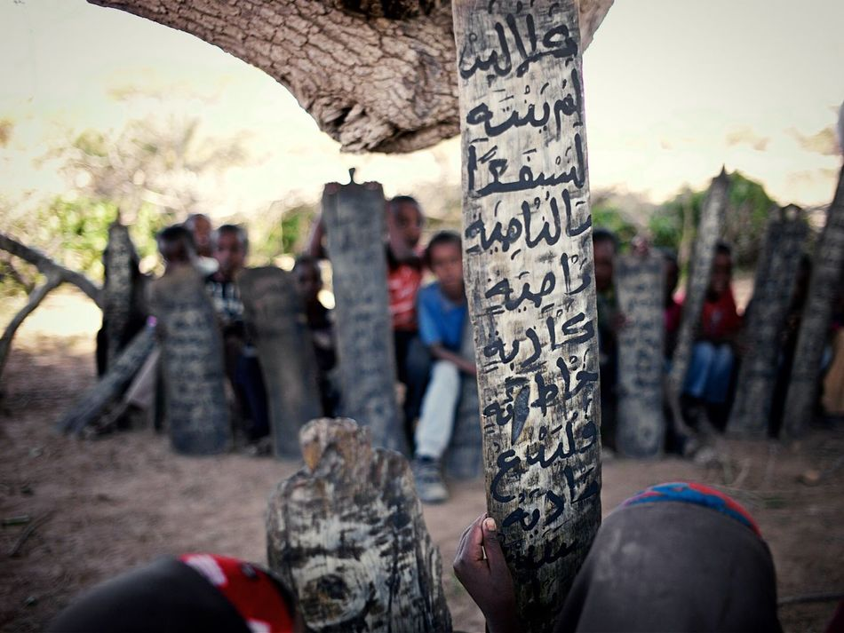 Reciting Quran in the desert of Somaliland. Documentary Education