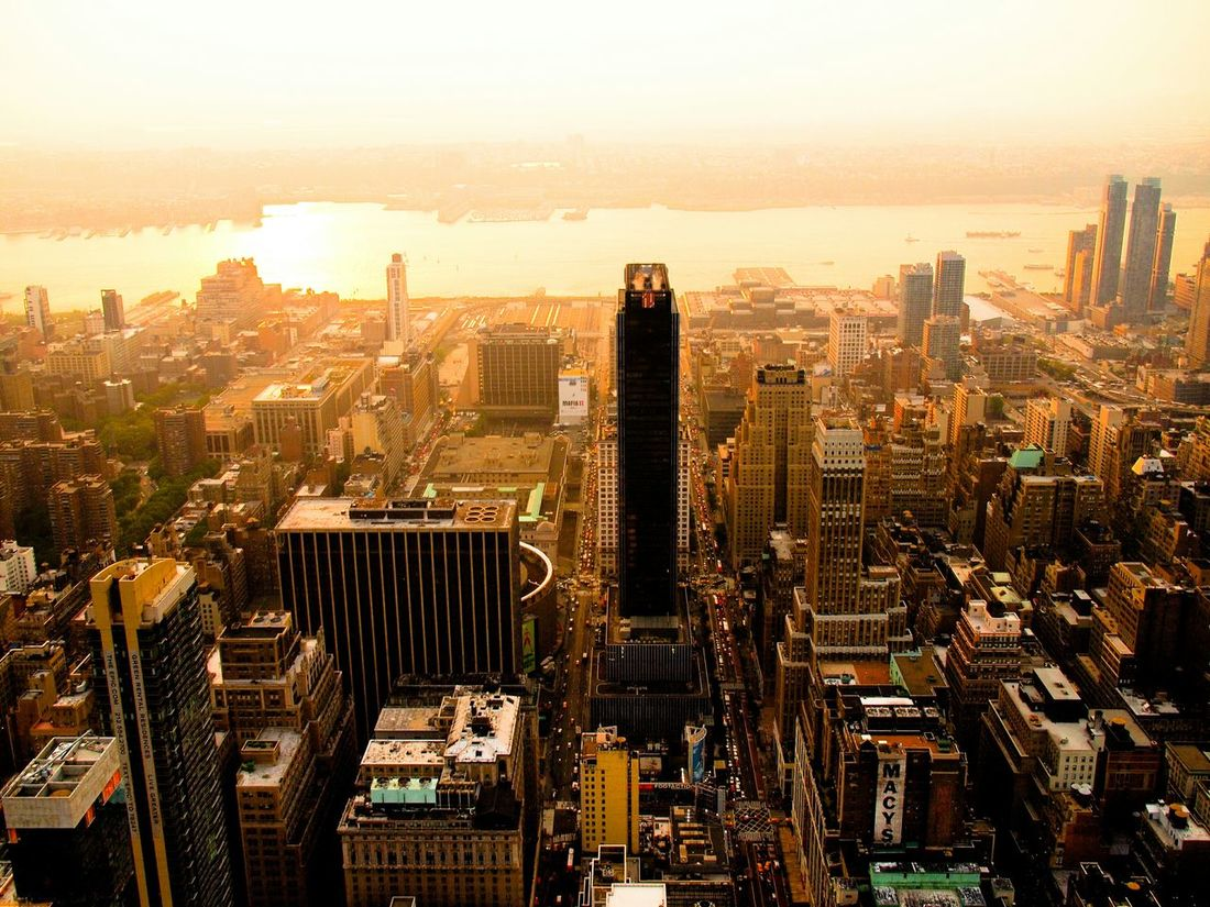 I Heart New York New York Newyork Newyorkcity Manhattan City Sunset Eastriver Empire State Building USA