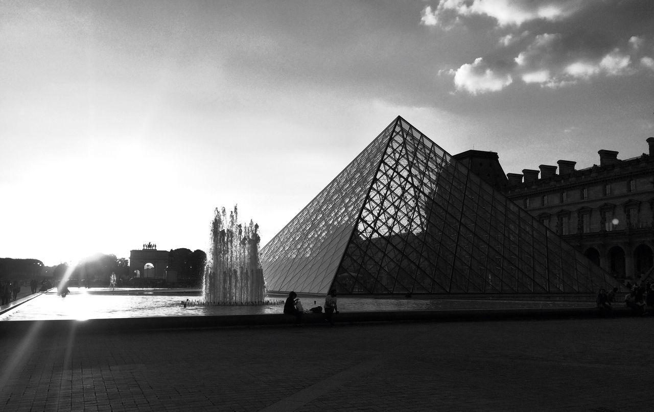 Louvre Paris France Blackandwhite Photography EyeEmNewHere