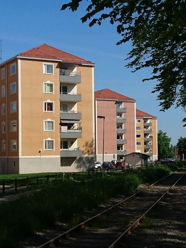 Residential Building Shadow Building Architecture_collection Architecture Window Windows Tracks Transportation Blue Sky Urban Geometry Urban Landscape Urbanexploration Tree