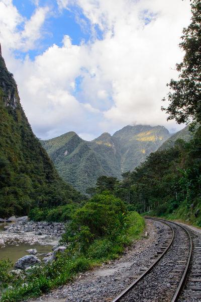 Peru Peru Rail Travel Day Mountain Nature No People Outdoors Rail Transportation Railroad Track Sky Transportation