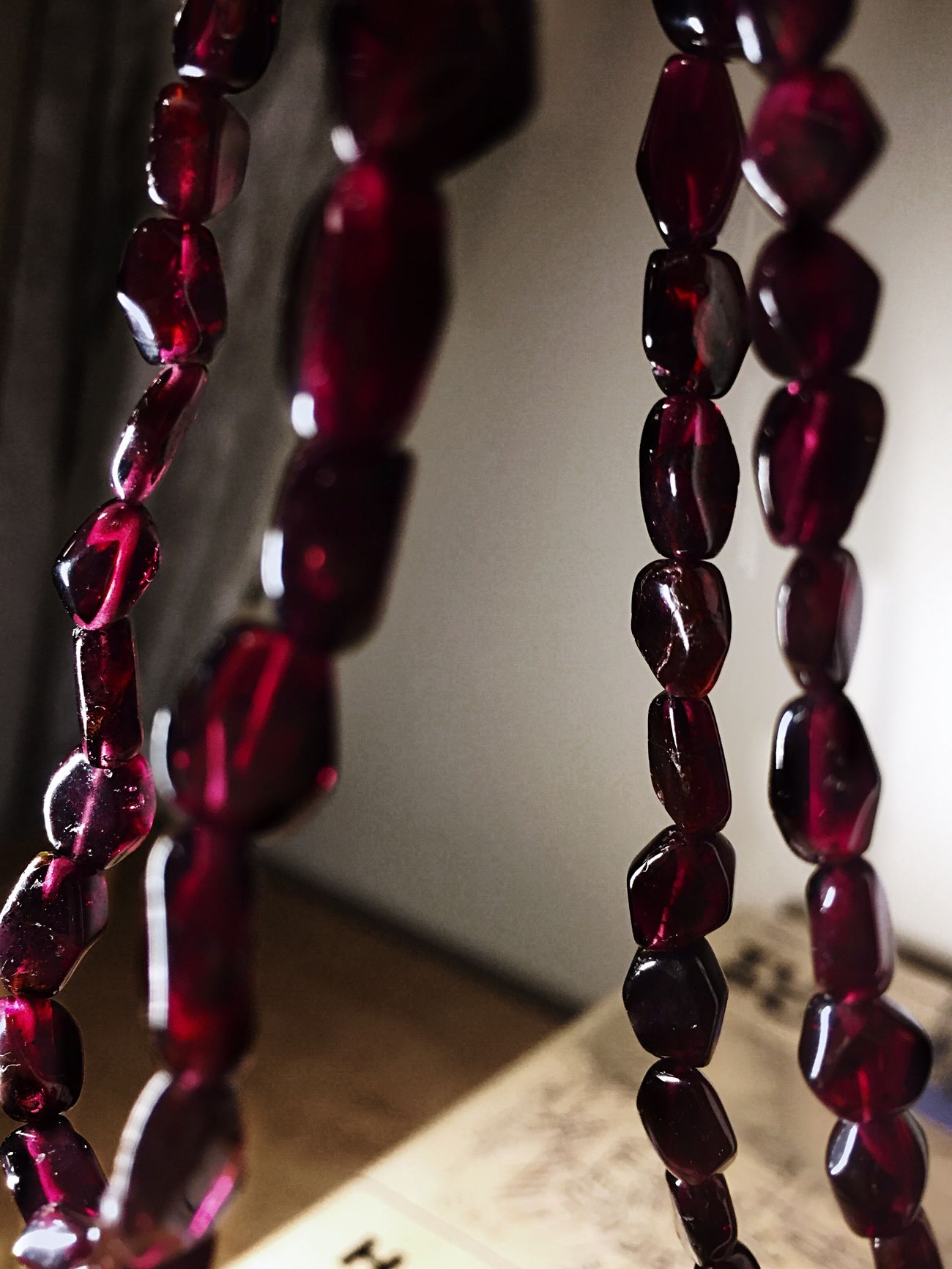 Jewlery Garnet Rocks Preciousstones Necklace Red Hanging