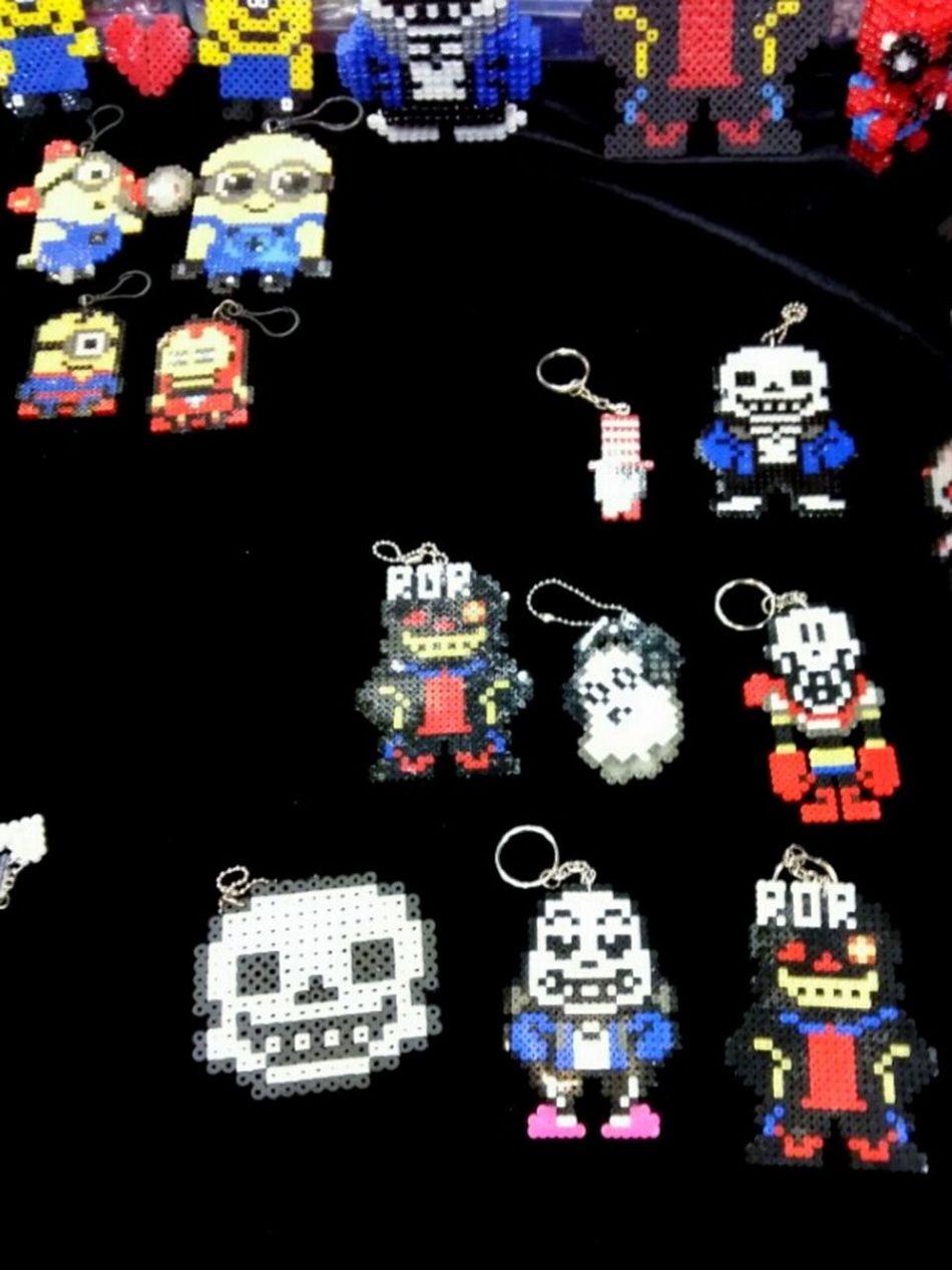 KINTEX Play Expo May 2016 Game Animation Key Ring Key Rings Under Tale Sans Papyrus Skeleton Skeletons Minions Minion  Korea 킨텍스 플레이엑스포 키링