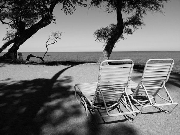 The lovers Beach Life Monochrome Black And White Light And Shadow