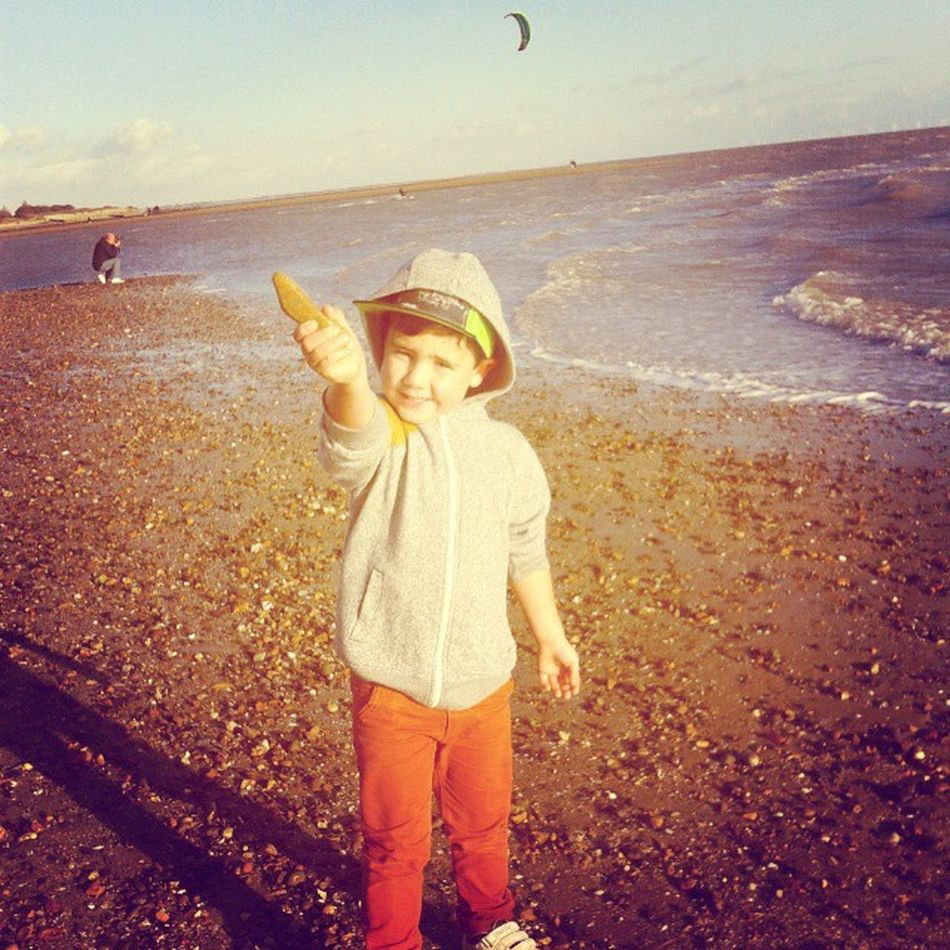 Skimming stones with Lewis