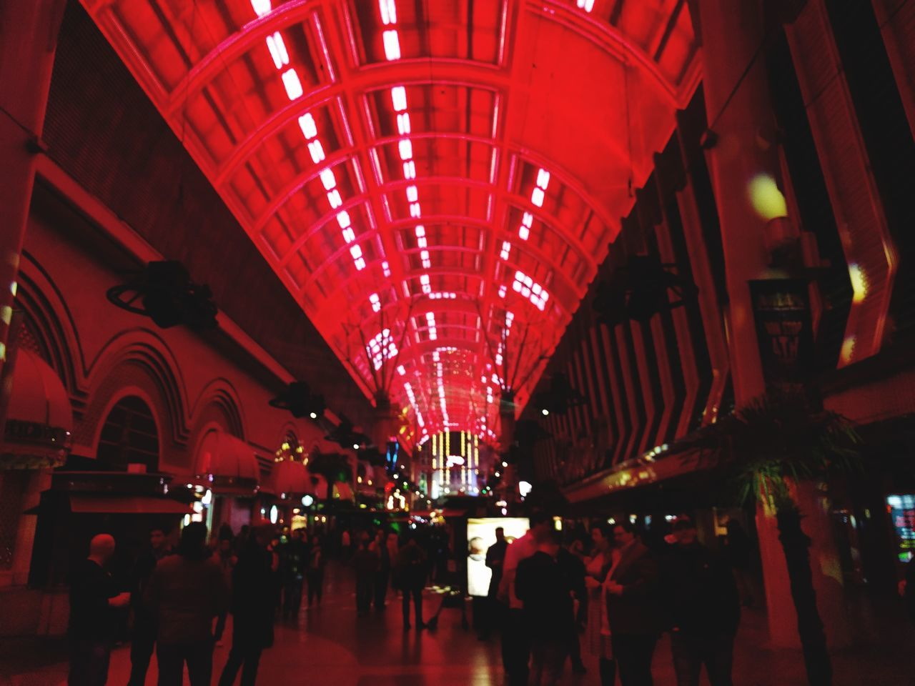 starting first weekend of 2017 @fremont streetRed Illuminated Group Of People Large Group Of People Tourist Indoors  Architecture Leisure Activity People Crowd Adult