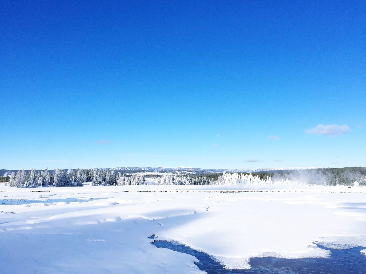 Idyllic Shot Of Frozen Lake Against Sky