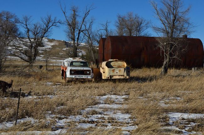 Same place for years Abandoned Cold Temperature Mode Of Transport Old Outdoors Stationary Truck Winter